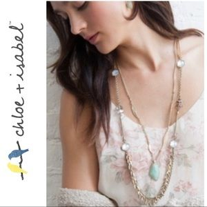 Chloe and Isabel guilted reeds necklace